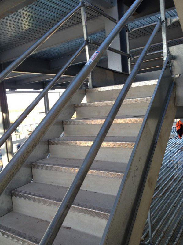 Good ... 3) Offering Full Edge Protection Down The Flights And The Landings And  Half Landings. RAPIDu0027s Temporary Stair Protection Also Works With Timber  Stairs.